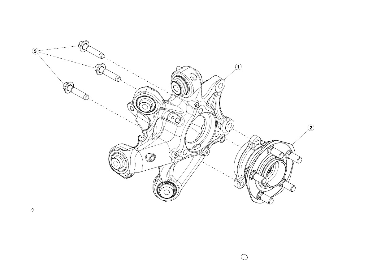 Rear Knuckle - Hub and Bearing