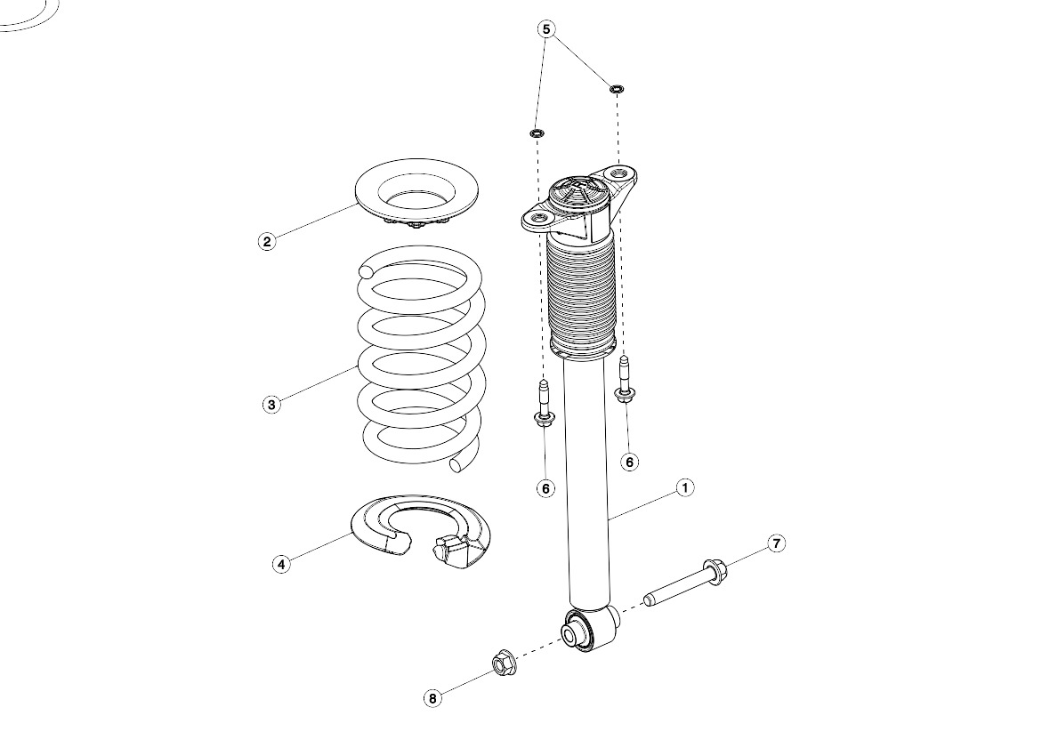 Rear Coil Spring and Damper